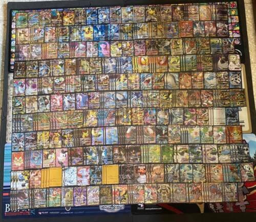 Pokemon 100 Card Lot - GUARANTEED V or Vmax EX GX + 1 Pack - Mega Full Art Holos