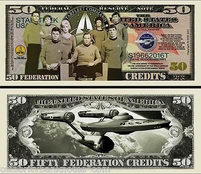 STAR TREK MEMORABILIA  - 50TH ANNIVERSARY Collectors Banknote/Bill