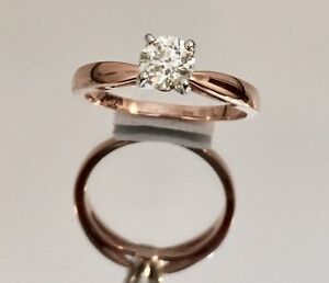 14K ROSE GOLD DIAMOND SOLITAIRE ENGAGEMENT RING*Appraised@$3,800