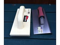 EDGING TROWEL AND POLYURETHANE FLOAT ( NEW, UNUSED ) * bargain *