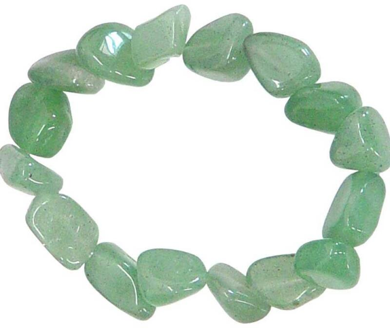 Green Aventurine Tumbled Stone Bracelet!
