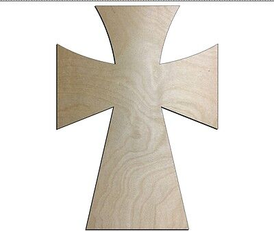 UNFINISHED WOOD CROSS SpeedGerm style 11'' tall - Quantity 10 - Unfinished Wood Cross
