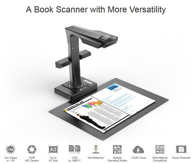 CZUR ET16 Plus Book/Document Wi-Fi Reader Smart Scanner With OCR for Mac/Windows