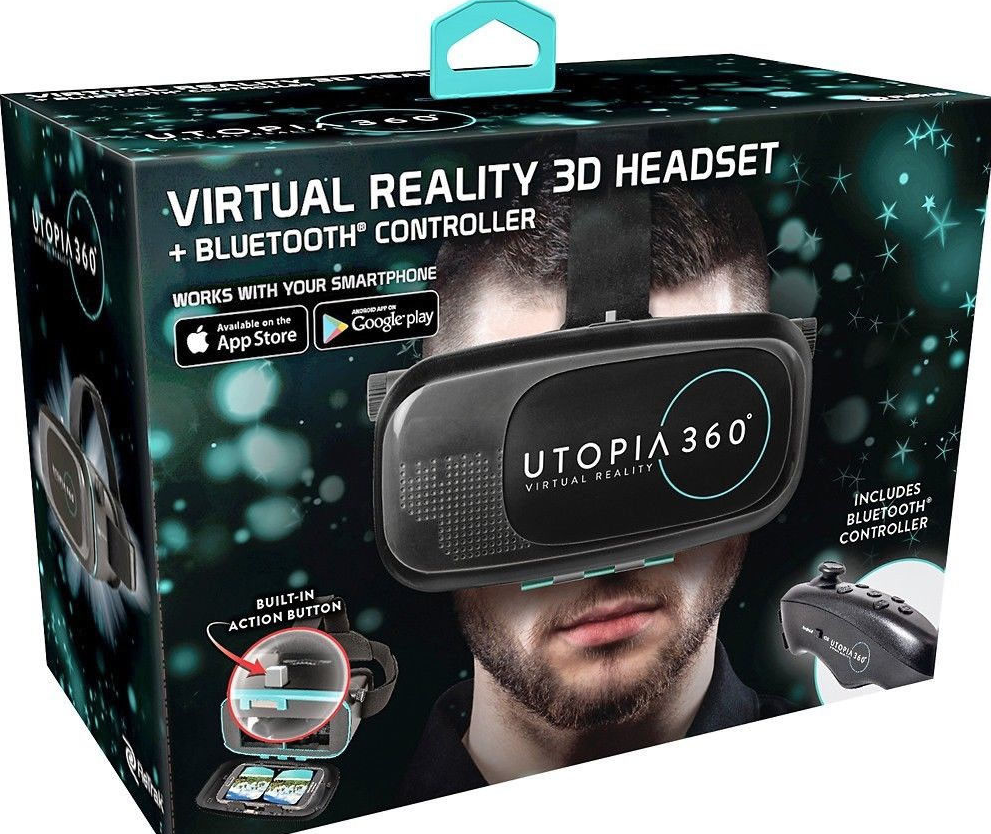 ReTrak Utopia 360° Virtual Reality Headset with Bluetooth Controller