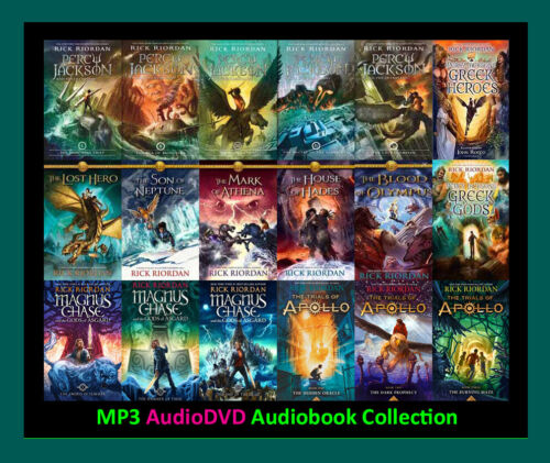 The PERCY JACKSON Series By R. Riordan + Spinoffs  (19 MP3 Audiobook Collection)