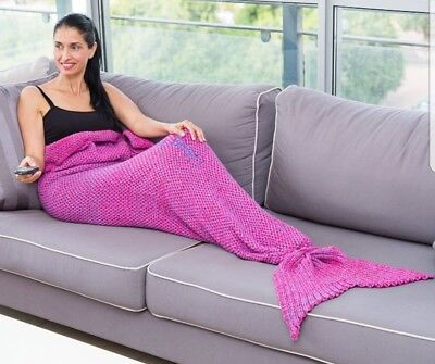 Mermaid Tail Sofa Blanket Super Soft,Gift For Adult Embroidered