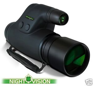 Night Owl Optics NOXM50 5-Power Infrared Night Vision Monocular Scope Glass Lens