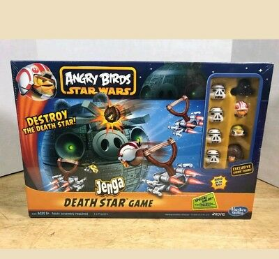HASBRO ROVIO ANGRY BIRDS STAR WARS JENGA DEATH STAR BOARD GAME NIB RARE XMAS