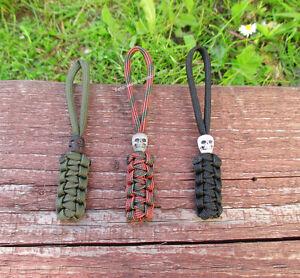 ►► 3x Paracord Lanyard Skull Tactical für Taschenmesser Messer Schlüsselanhänger