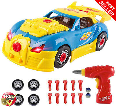 Toys For 3 Year Olds Boys & 4 Old Boy Gifts,Crossrace Take Apart Toy Car Kids