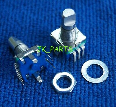 5pcs Rotary Encoder Switch Ec11 Audio Digital Potentiometer 15mm Half Shaft