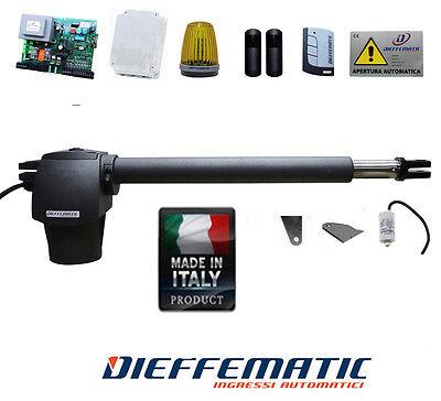 Miglior prezzo KIT AUTOMAZIONE APRI CANCELLO 1 ANTA MAX 3,00 MT CORSA 400 BATTENTE AUTOMATISMO