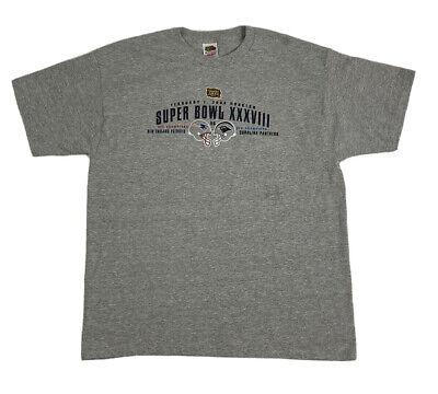 SUPER BOWL XXXVIII 38 NEW ENGLAND PATRIOTS vs CAROLINA PANTHERS XL T-Shirt 2004