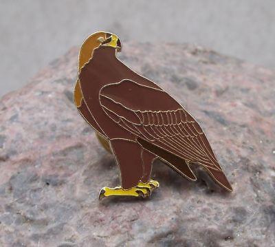 North American Golden Eagle Perched Raptor Prey Bird Wildlife Brooch Pin Badge
