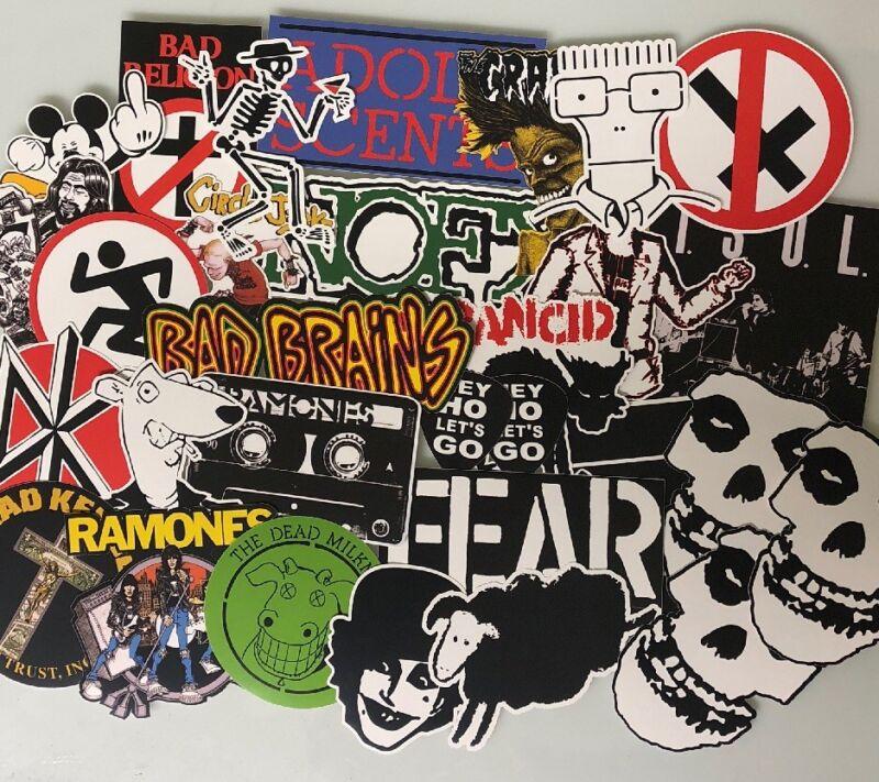 Punk Rock Sticker Lot - Ramones Rancid Dead Kennedy's Fear