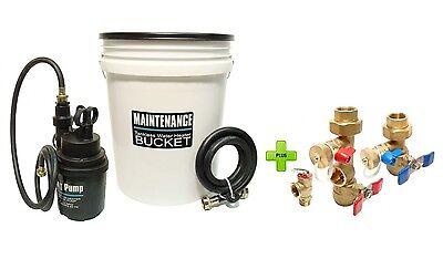 - Tankless Water Heater Flushing Kit With Brass Isolation Valve Kit