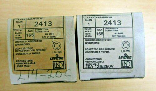 Leviton  2413  Locking Connector (2 boxes)  Female         NEW