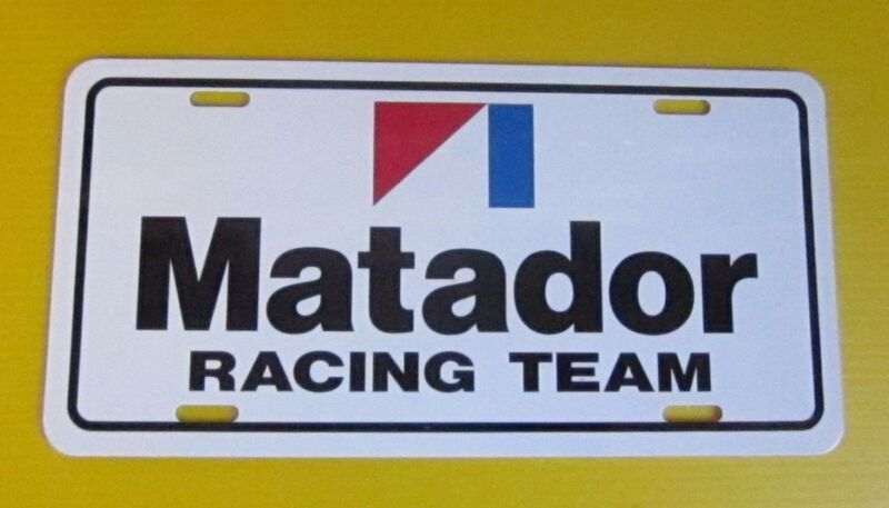 AMC MATADOR RACING TEAM LICENSE PLATE TAG 1971 1972 1973 1974 1975 1976 1977