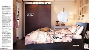 IKEA Oppdal Queen size bed frame with storage
