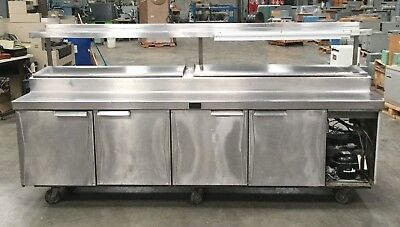 Infra Commercial Chiller Refrigerated Prep Table 112l X 34w X 57h
