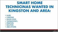 SMART HOME INSTALLERS WANTED KINGSTON AND AREA