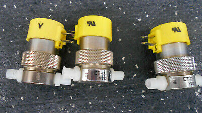 Lot Of 3 Clippard Et-2-vdc 2 Way Electronic Valve With Luer Fittings