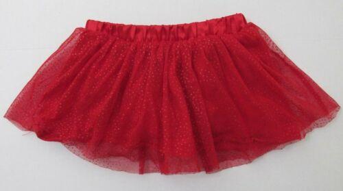 Okie Dokie Girls Tutu Skirt 12 mos Red Sparkle Dress Up Costume Valentine Baby