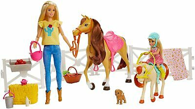 Barbie - Barbie And Chelsea With Horses And Accessories For Girls And Children