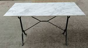 White marble Top Table slight surface markings 120x60cm WAS $469 Woollahra Eastern Suburbs Preview