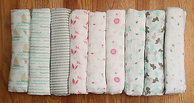 "Aden Anais Swaddle Blanket  ~ You choose ~ 44"" x 44"""