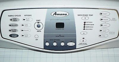 GENUINE OEM AMANA FRONT LOAD WASHER CONSOLE / CONTROL PANEL #Y2207692 #2207673