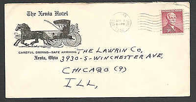 Dated 1956 Cover The Xenia Hotel Ohio Illustrated