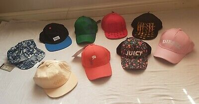 BNWT DIESEL, VANS, REASON NEW YORK etc HAT CAP BASEBALL CAP w/Logo PINK £15 EACH