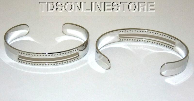 Centerline Rhodium Plated Adjustable Bracelet Cuffs Package Of 2