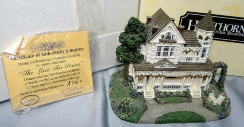 Hawthorne LACE TEA ROOM Figurine Victoriana Collection Architectural Register
