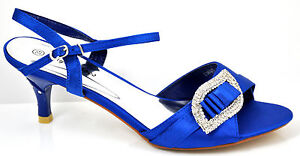 Satin-Blue-Diamante-Mid-Heel-Wedding-Sandals-Shoes-3-4-5-6-7-7-5
