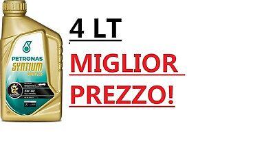 """4 LITRI OLIO MOTORE PETRONAS SYNTIUM 3000 AV 5W-40 COOLTECH""""MIGLIOR PREZZO""""!"""