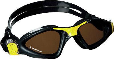 Aqua Sphere Kayenne Polarized Lens Goggles, Black/Yellow Frame
