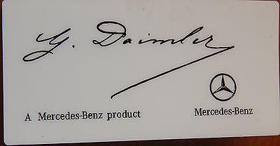 Mercedes Sticker Aufkleber Mercedes Benz  G Daimler weiß m.schw. Schrift