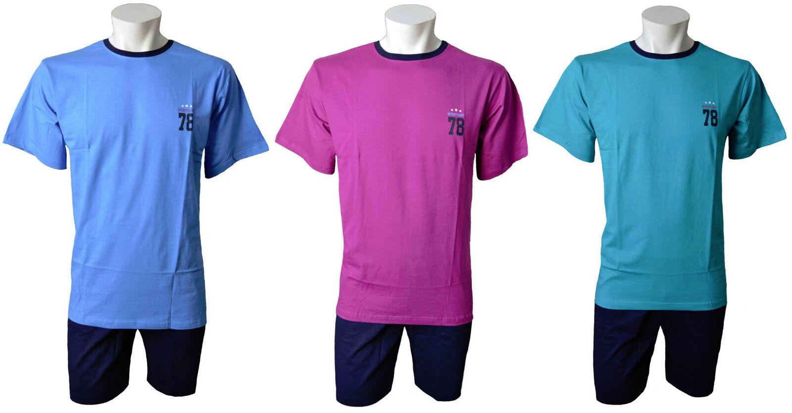 f46c6c4454 Herren Shorty Schlafanzug Pyjama, mit Motivdruck,drei Farben,Baumwolle,Gr.  M-XXL*