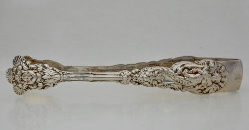 Gorham Sterling Silver Versailles Large Sugar Tongs Shell Tips - 82586