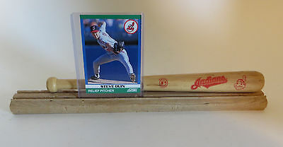 (Cleveland Indians Mini Bat Baseball Card or Photo Display )