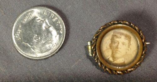 Antique Victorian Miniature Old Civil War Era Morning Doll Baby Tiny Vintage Pin