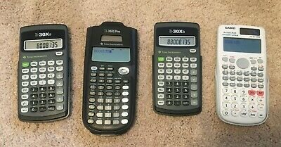 Lot of 4 Scientific Engineering Calculators Casio Texas Instruments TI Pro Plus