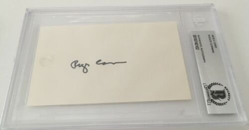 Roger Corman Signed Autographed 3x5 Card BAS Certified