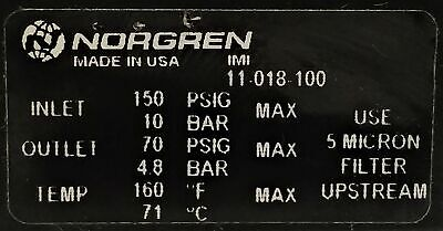 Norgren 11-018-100 Regulator with Pressure Gauge