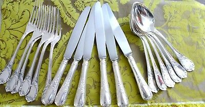 CHRISTOFLE MARLY SILVER PLATED SET 18 PCS 6 PEOPLE