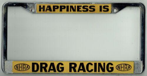 Vintage NHRA Drag Racing National Hot Rod Association Street License Plate Frame
