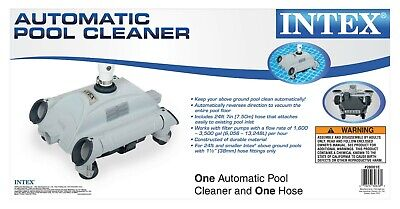 Above Ground Pool Cleaner Automatic Vacuum Floor Picks Up Debris Hassle Free New