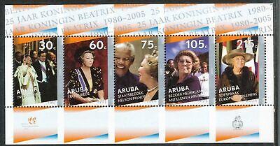 Netherlands/Aruba**QUEEN BEATRIX 25TH Years JUBILEE-SHEET 5stamps-2005-MNH